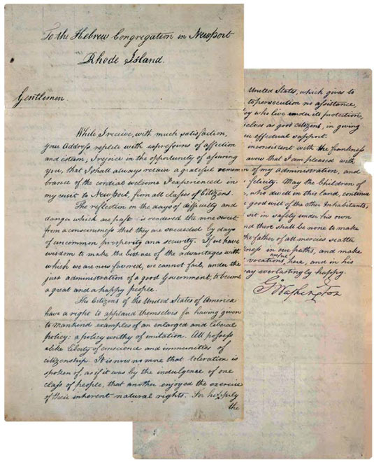 George Washington Letter to the Jewish Congregation of Newport