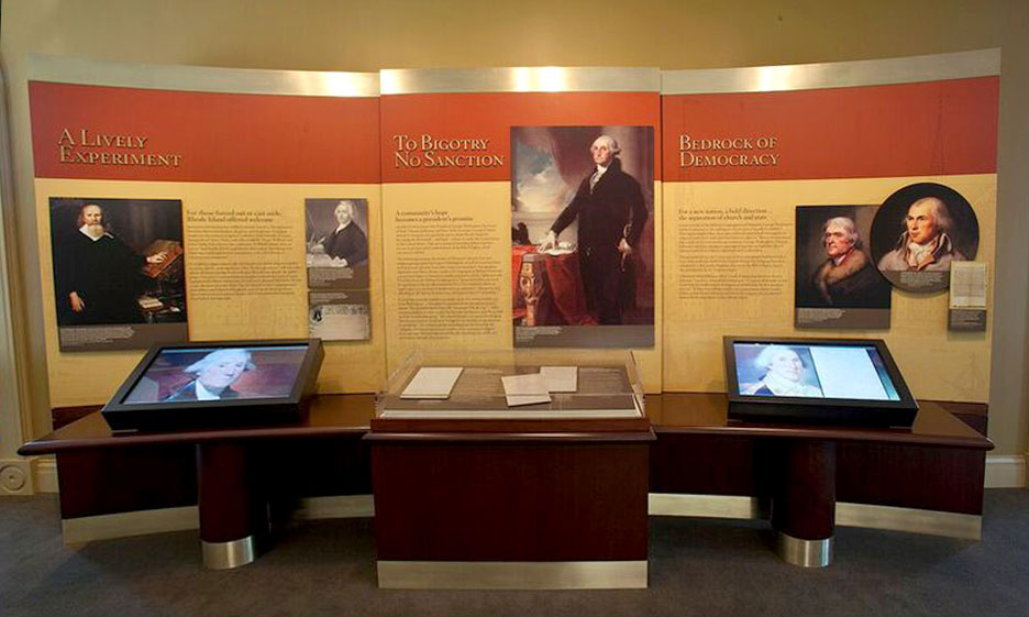 Exhibit of George Washingtons Letter to the Jewish Congregation of Newport